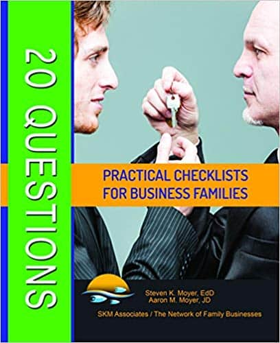 20 Questions Practical Checklists For Business Families